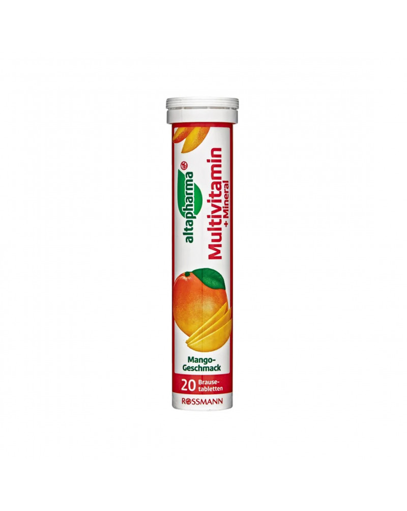 Brausetabletten Multivitamin + Mineral Шипучие таблетки Мультивитамин и минерал, со вкусом манго, 20 таблеток