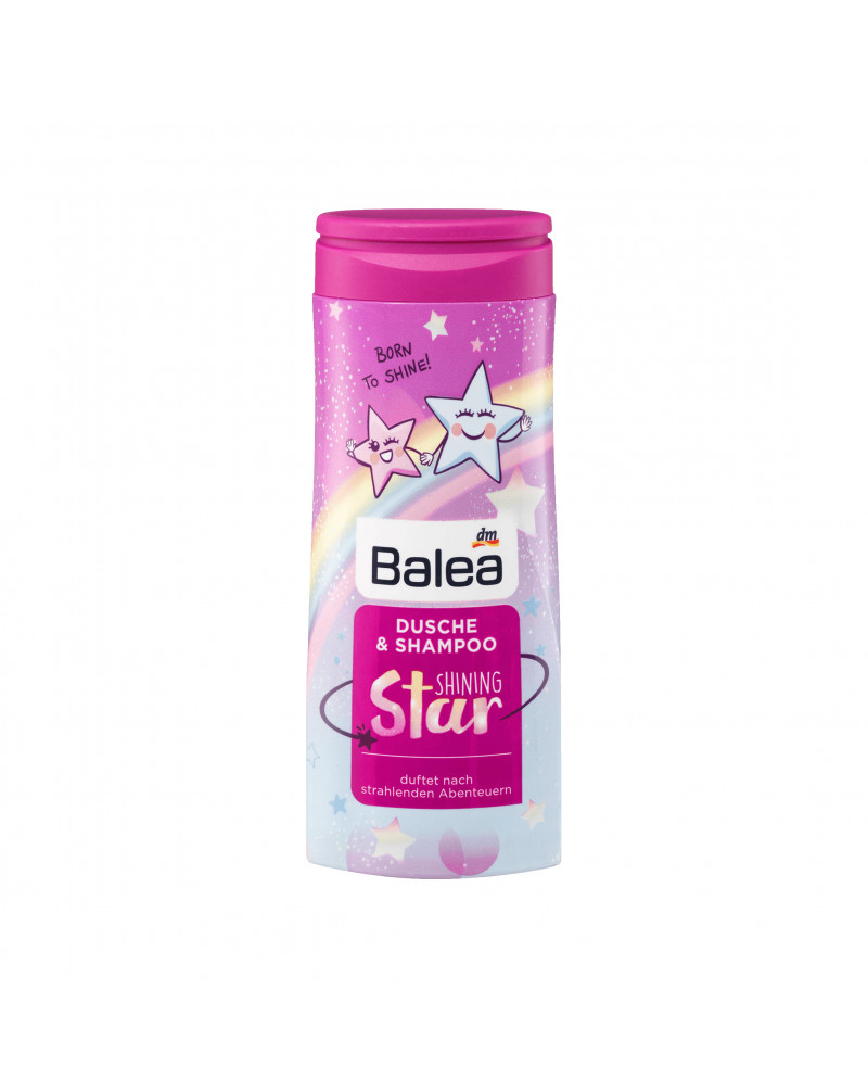 Kids Dusche & Shampoo Shining Star Гель и шампунь 2в1 с фруктовым ароматом, 300 мл