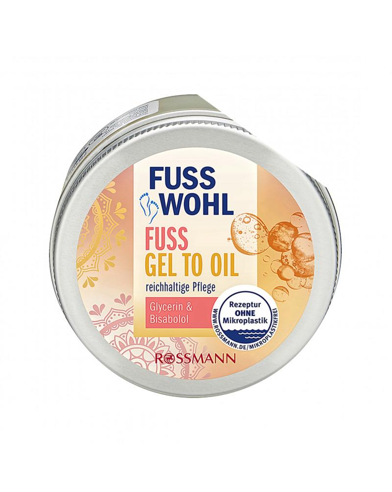Fuss Gel to Oil Гель для ног с глицерином и бисабололом, 75 мл.