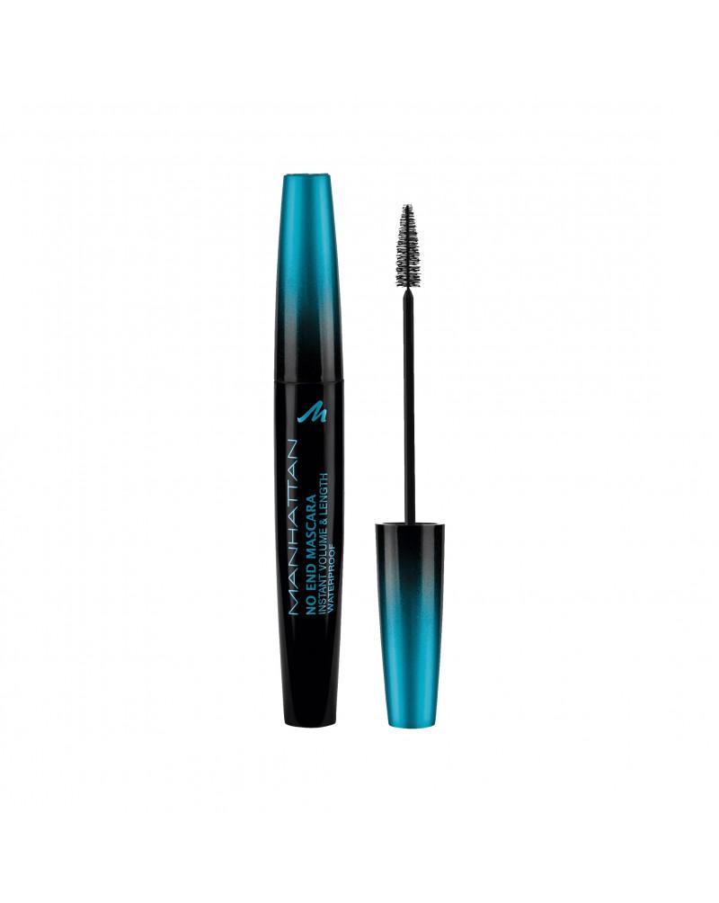 MANHATTAN Cosmetics Wimperntusche No End Mascara waterproof Black 1010N Тушь водостойкая для обьемных и длинных ресниц, чёрная, 8 мл