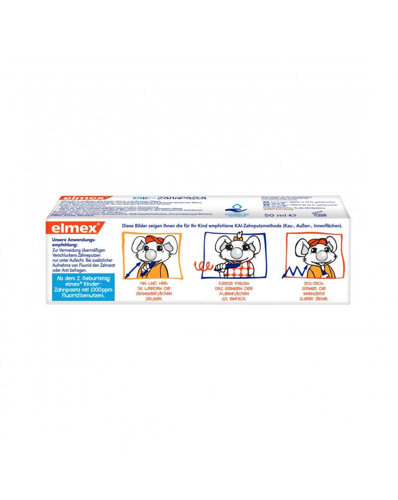 Zahnpasta Baby, 1. Zahn - 2 Jahre Детская зубная паста с фторидом амина для молочных зубов, 50 мл.