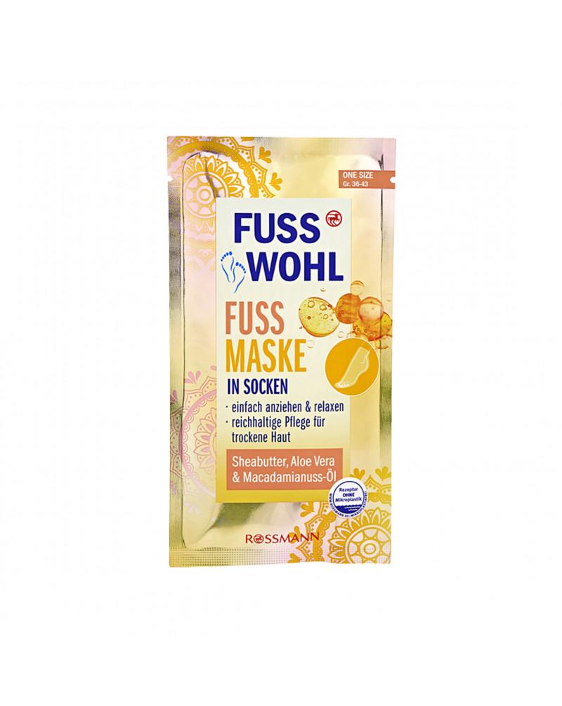 Fuss Maske im Strumpf Маска - носки для ног с маслом ши, алоэ вера и маслом ореха макадамии, 1 шт.