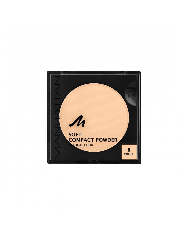 Gesichtspuder Soft Compact Powder Vanilla 08 Мягкая матирующая компактная пудра для лица (Vanilla 08), 9 г