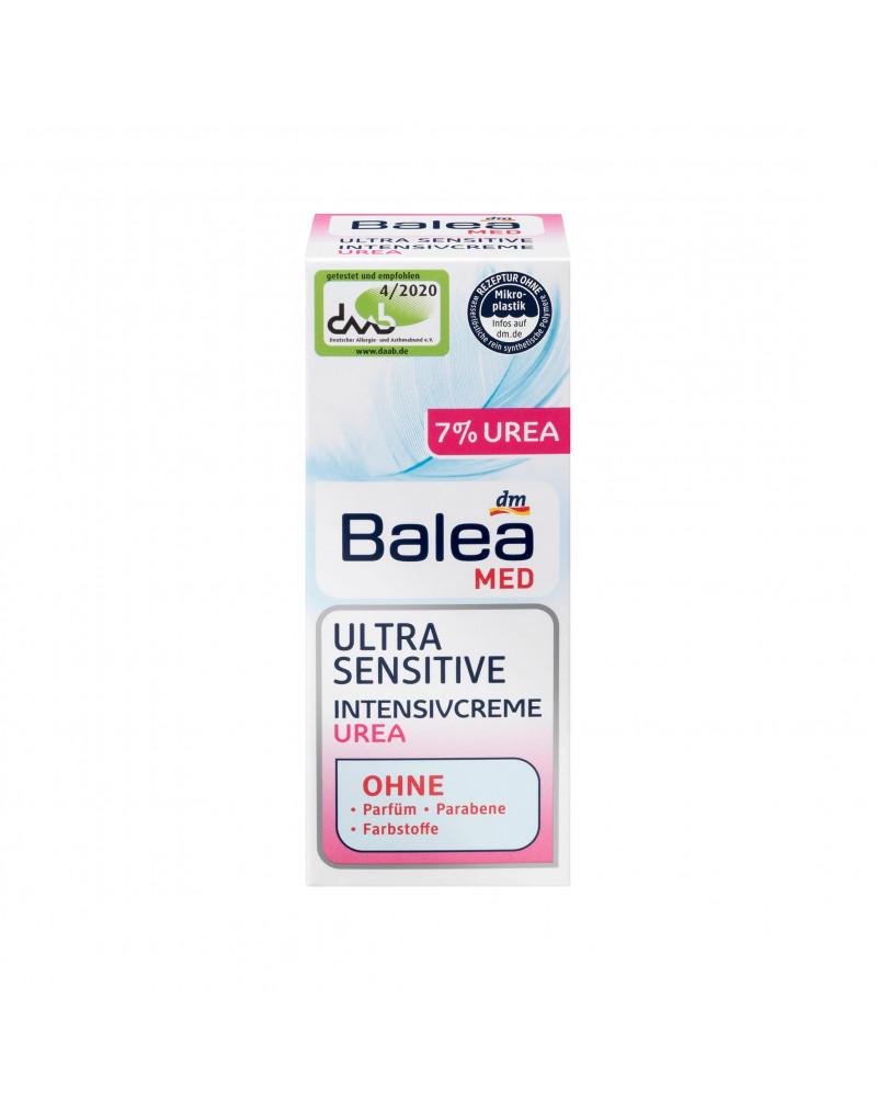 Tagescreme Ultra Sensitive Intensivcreme urea Дневной крем для чувствительной кожи с пантенолом, аллантоином и мочевиной, 50 мл.