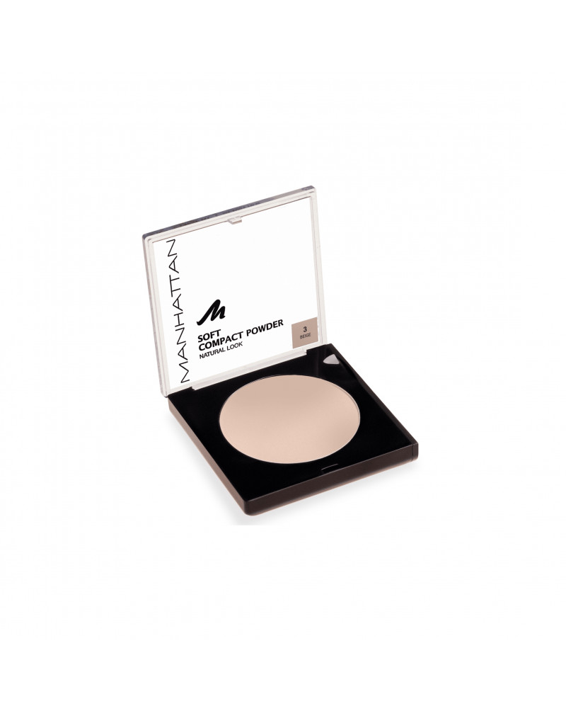 Gesichtspuder Soft Compact Powder Beige 03 Мягкая матирующая компактная пудра для лица (Beige 03), 9 г