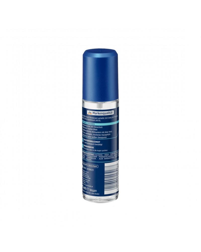 Deo Zerstäuber Deodorant fresh Дезодорант парфюмированный с экстрактом алоэ и свежим морским ароматом, 75мл
