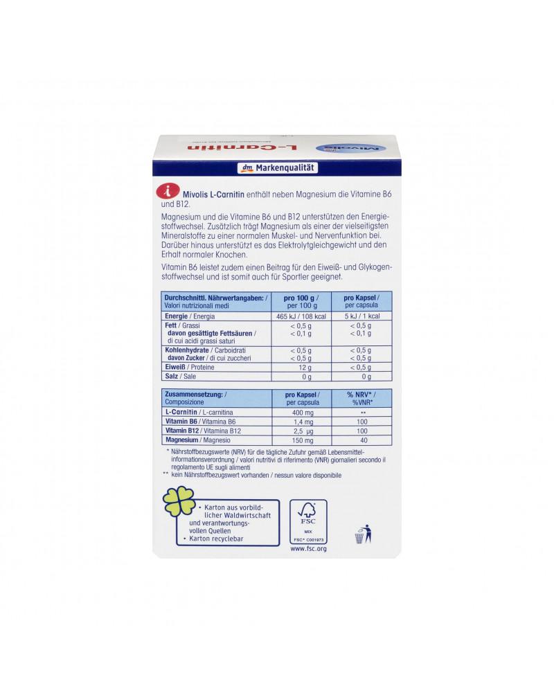 L-Carnitin Kapseln L-карнитин в капсулах, 60 шт., 59 гр