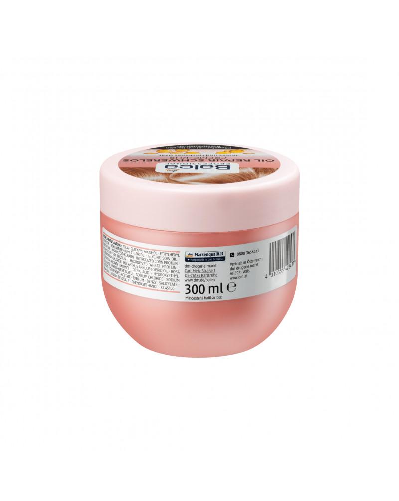 Creme Kur Oil Repair Schwerelos Маска для тонких и ломких волос с экстрактом розы сентифолии, маслом подсолнечника, 300 мл