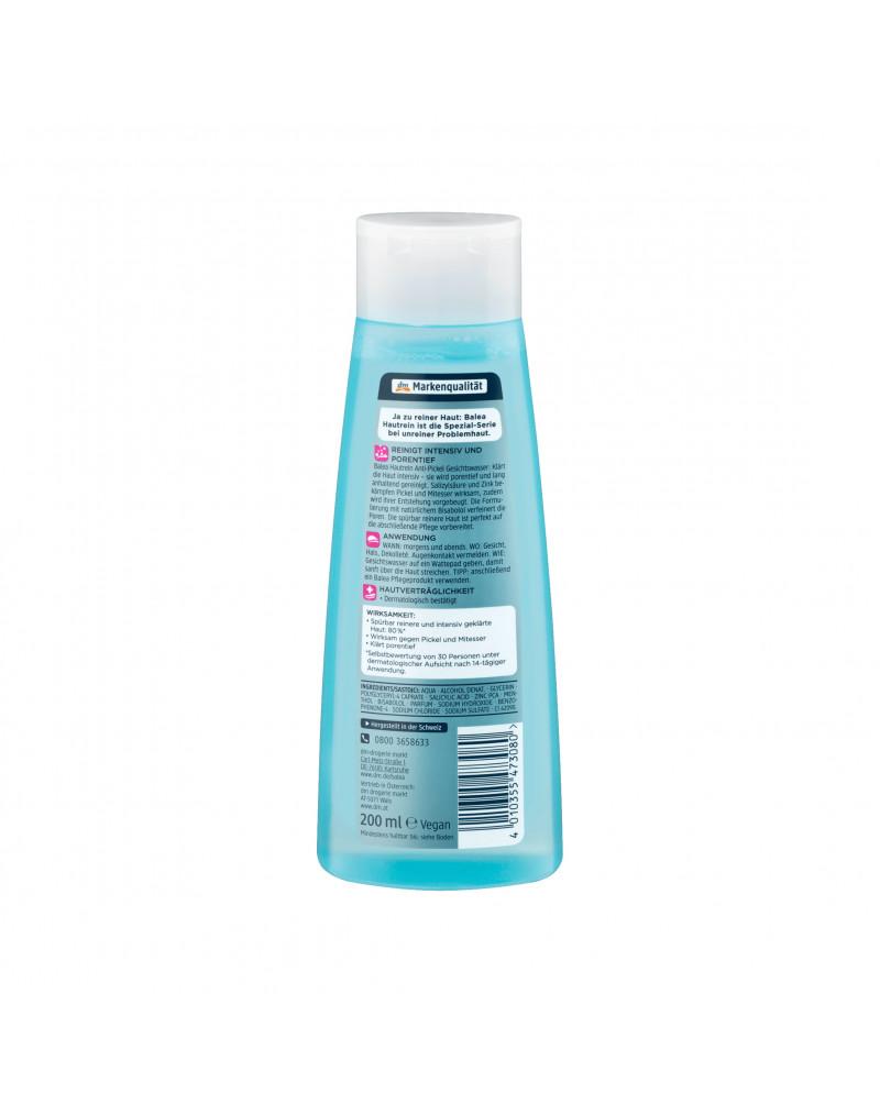 Balea Gesichtswasser Hautrein Anti-Pickel Лосьон против несовершенств кожи с салициловой кислотой, цинком и бисабололом, 200 мл