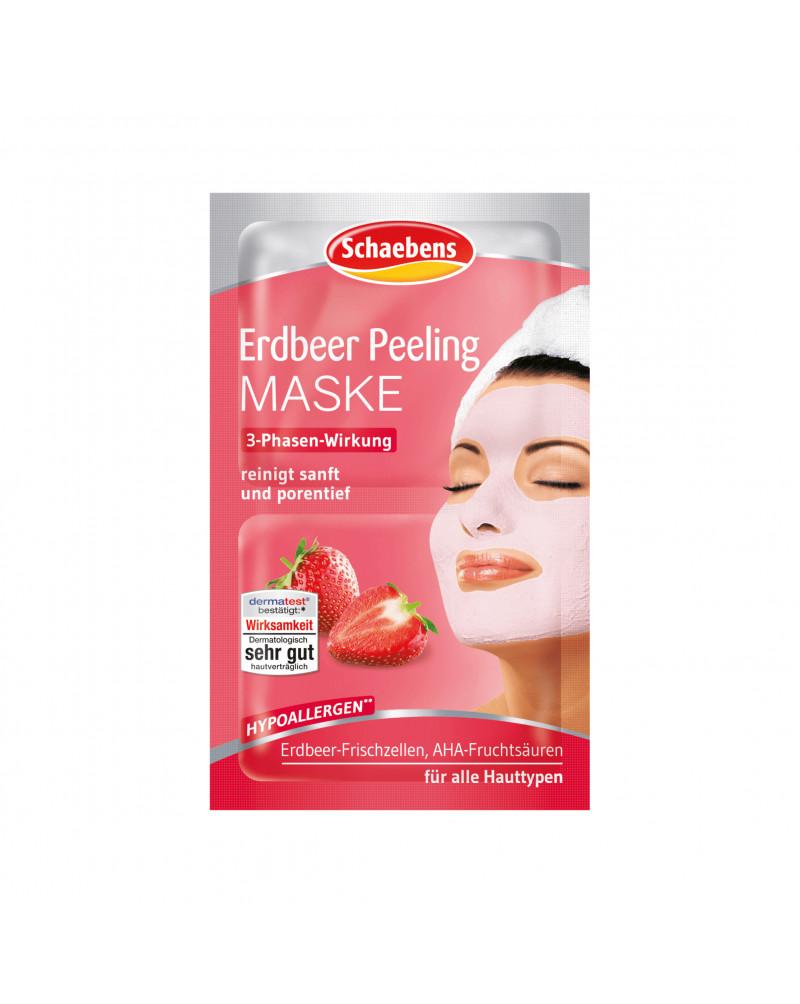 Maske Erdbeer Peeling Пилинг-маска для лица с экстрактами плодов киви и клубники, 2x6 мл
