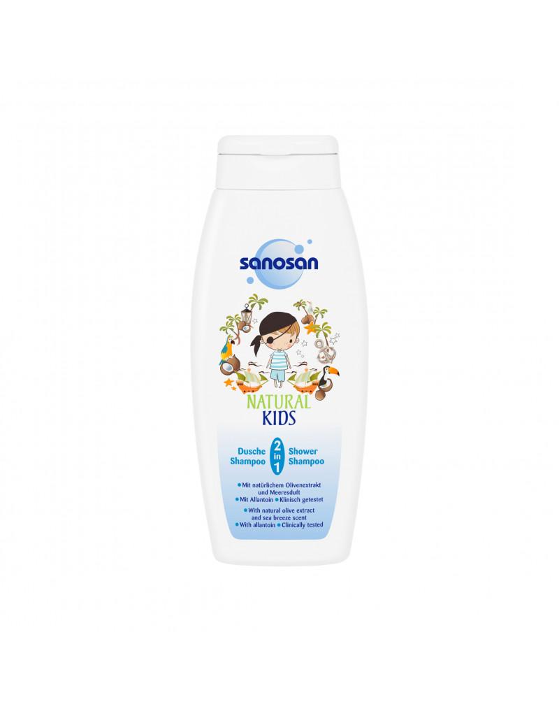 Kids Dusche & Shampoo Natural Kids 2in1 für Jungs Гель-шампунь для мальчиков с экстрактом оливок и аллантоином, 250 мл