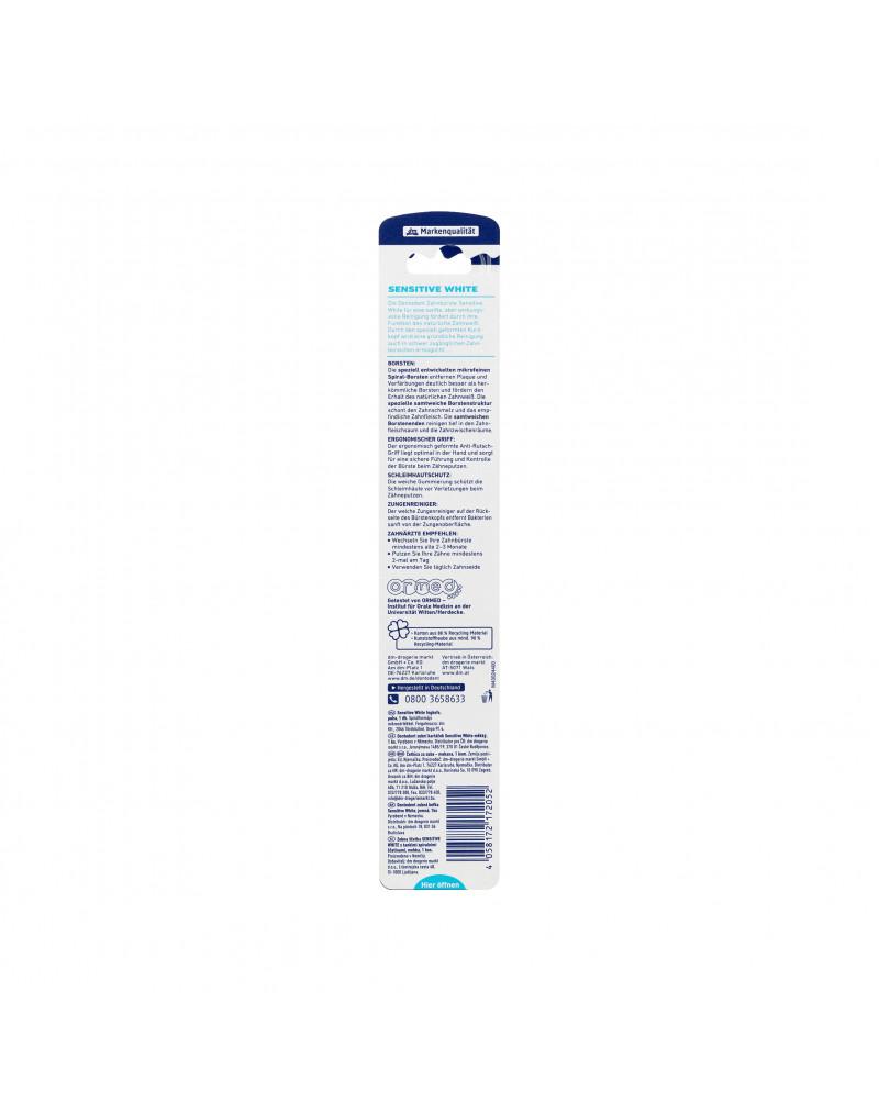 Zahnbürste Sensitive White Зубная щетка для отбеливания зубов, мягкая, 1 шт.