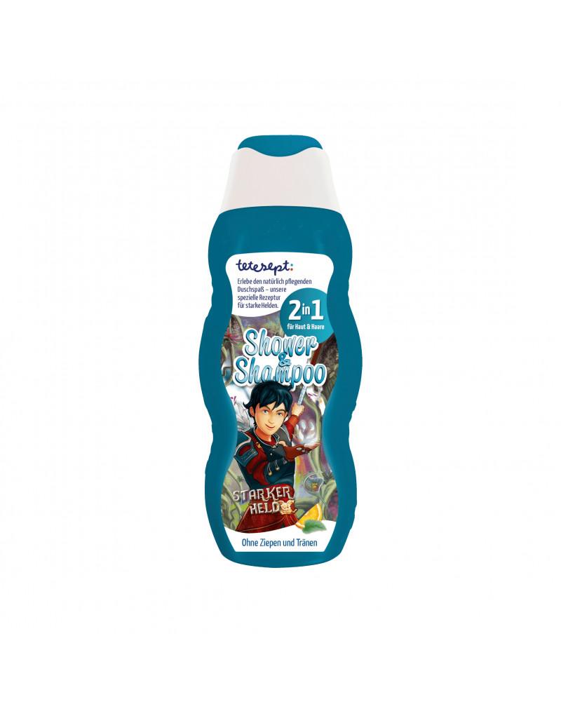 """Kids Shower & Shampoo 2in1 Starker Held Шампунь и гель для душа 2В1 """"Сильный герой"""", с ароматом апельсина и мяты, 200 мл"""