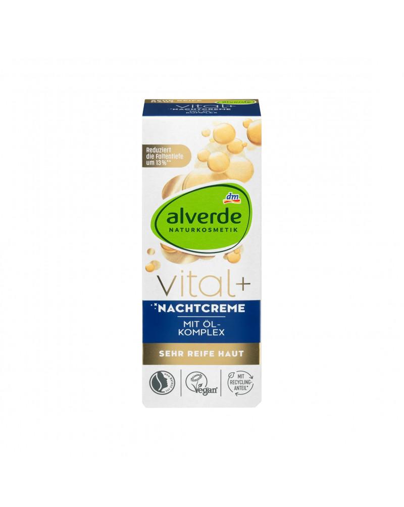 Vital+ Nachtcreme Ночной крем с активным комплексом орехов инков, арганового и миндального масел, 50 мл.