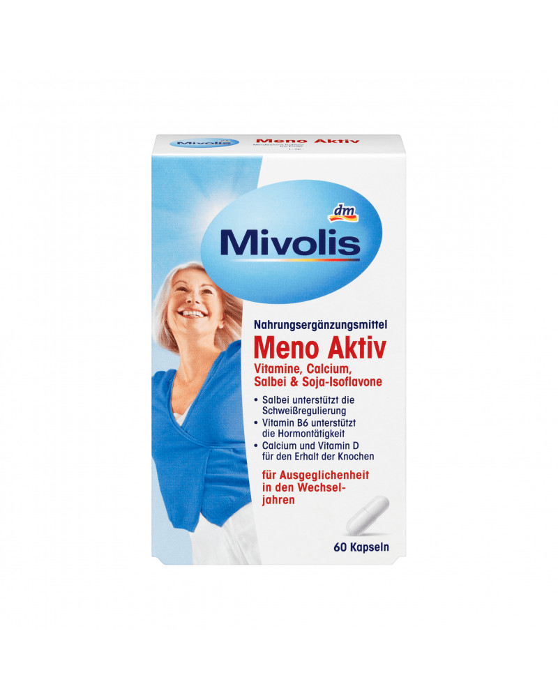 Meno Aktiv Kapseln Витамины для поддержания гормонального баланса в период менопаузы, 60 шт