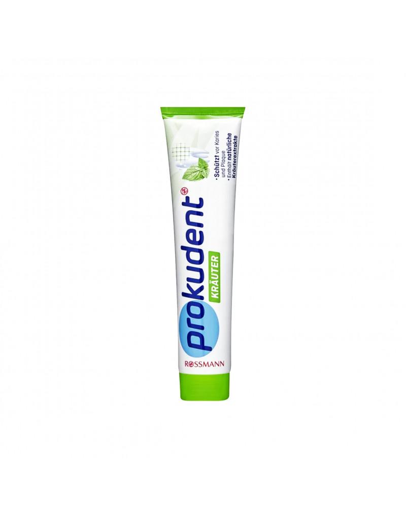 Zahncreme Kräuter Зубная паста с экстрактом ромашки и шалфея, для защиты зубов от кариеса,125 мл