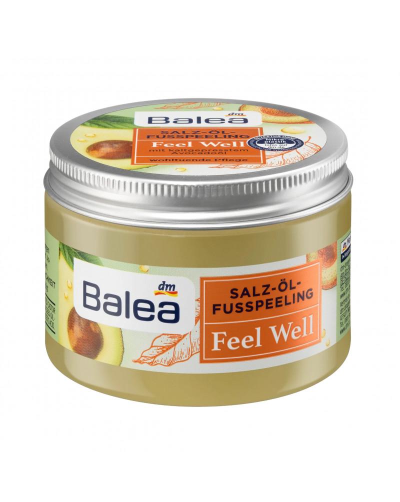 Fußpeeling Salz-Öl Feel Well Масляно - солевой пилинг для ног с маслом ши и маслом авокадо холодного отжима, 150 мл.