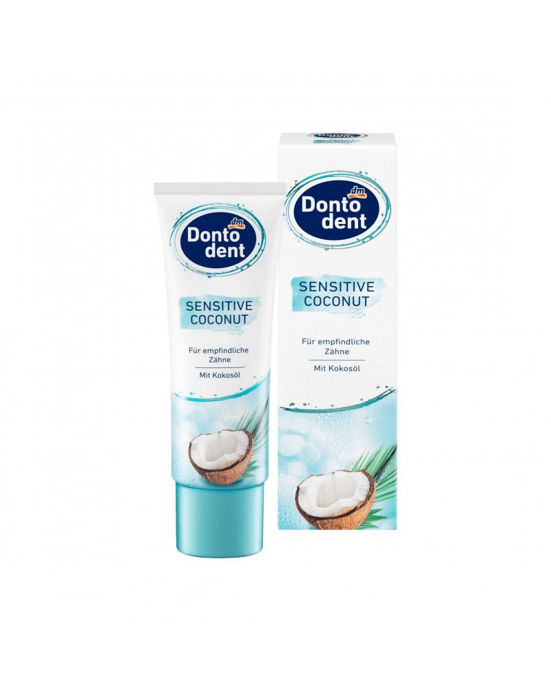 Zahnpasta Sensitive Coconut Зубная паста для чувствительных зубов с кокосовым маслом, 75 мл