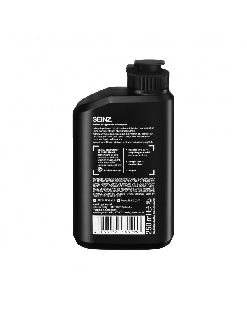 Shampoo tiefenreinigend Шампунь для волос с ментолом и активированным углем, 250 мл
