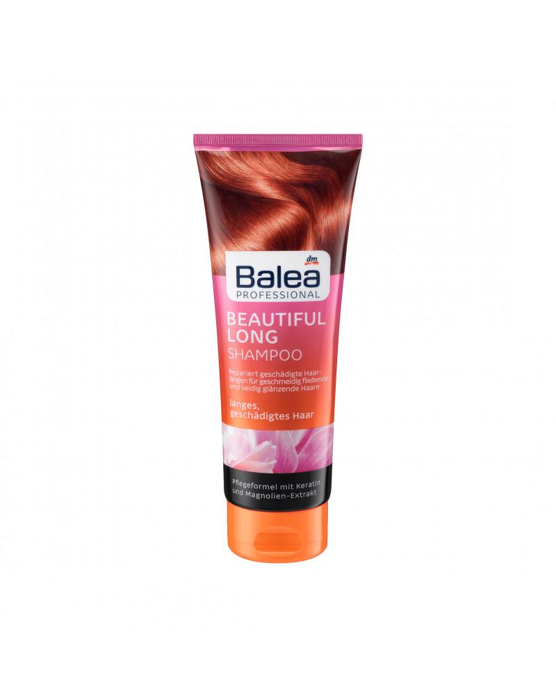 Shampoo Beautiful Long Восстанавливающий шампунь для длиных и поврежденных волос с кератином и экстрактом магнолии, 250 мл