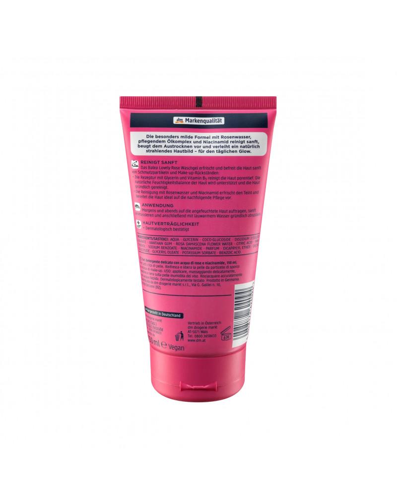 Lovely Rose Waschgel Гель для умывания с розовой водой и ниацинамидом, 150 мл.
