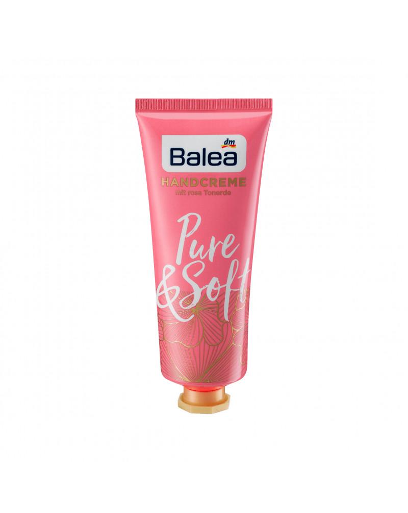 Handcreme Pure & Soft Крем для рук с маслом миндаля, маслом подсолнуха и розовой глиной, 75 мл