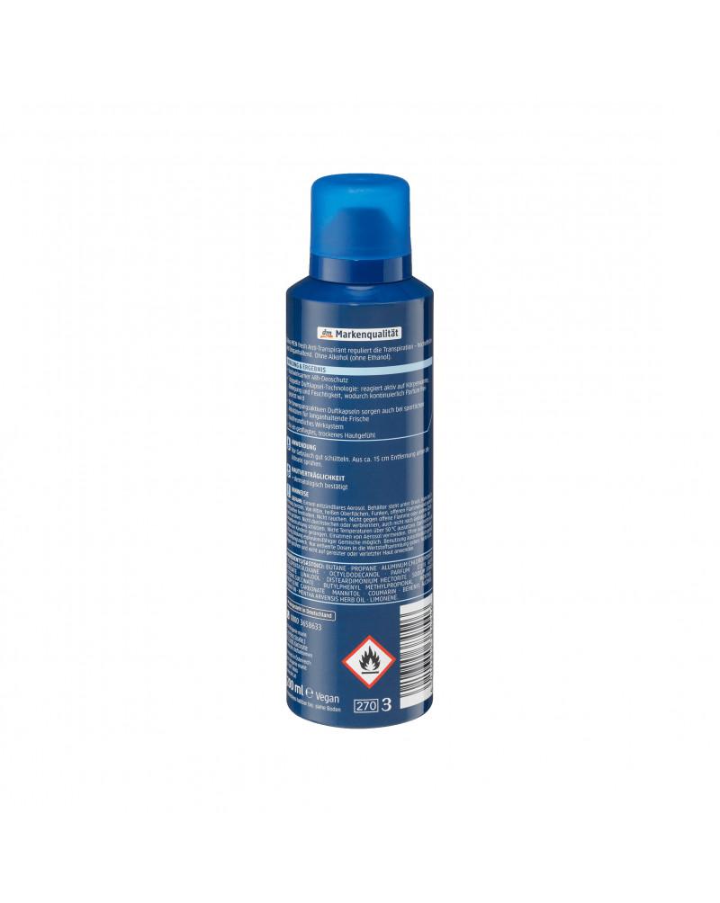 """Deo Spray Antitranspirant fresh  Дезодорант с эфирным маслом мяты луговой """"Свежесть"""", 200 мл"""