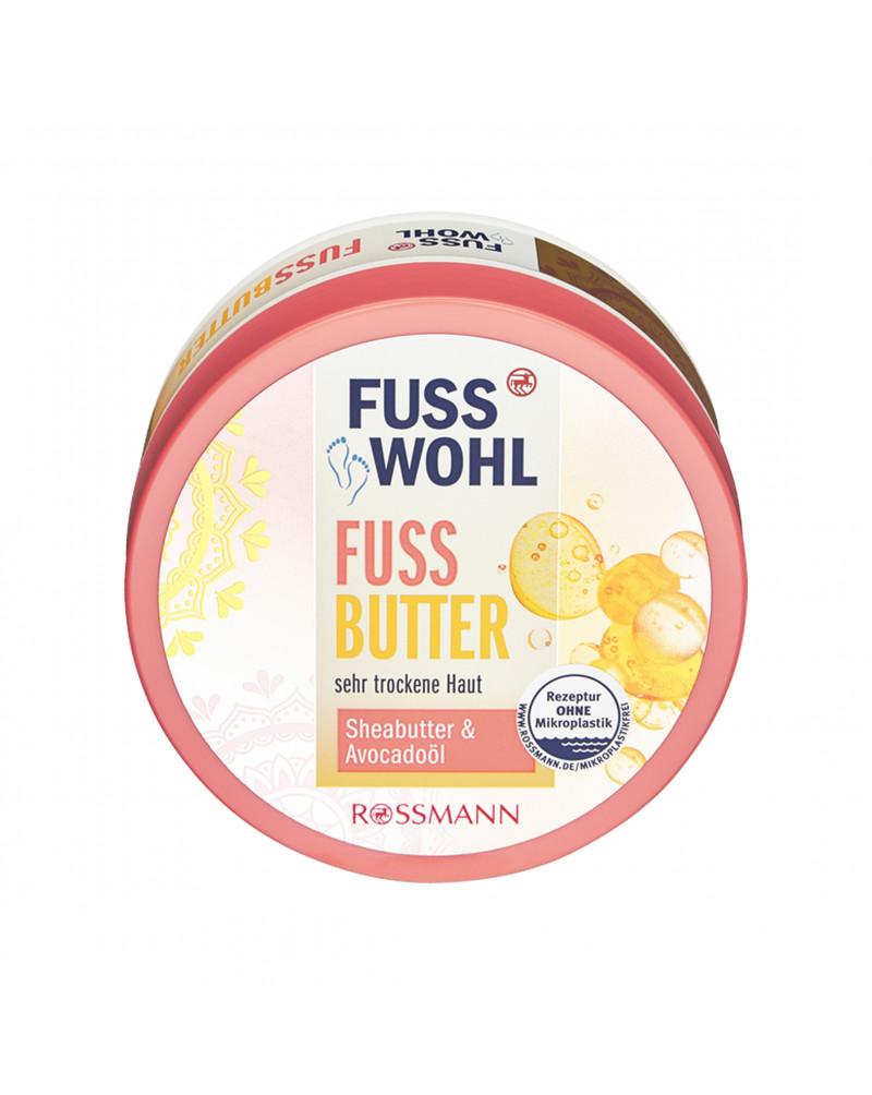 Fussbutter Масло для ног с маслом ши, маслом авокадо и пчелиным воском, 200 мл.