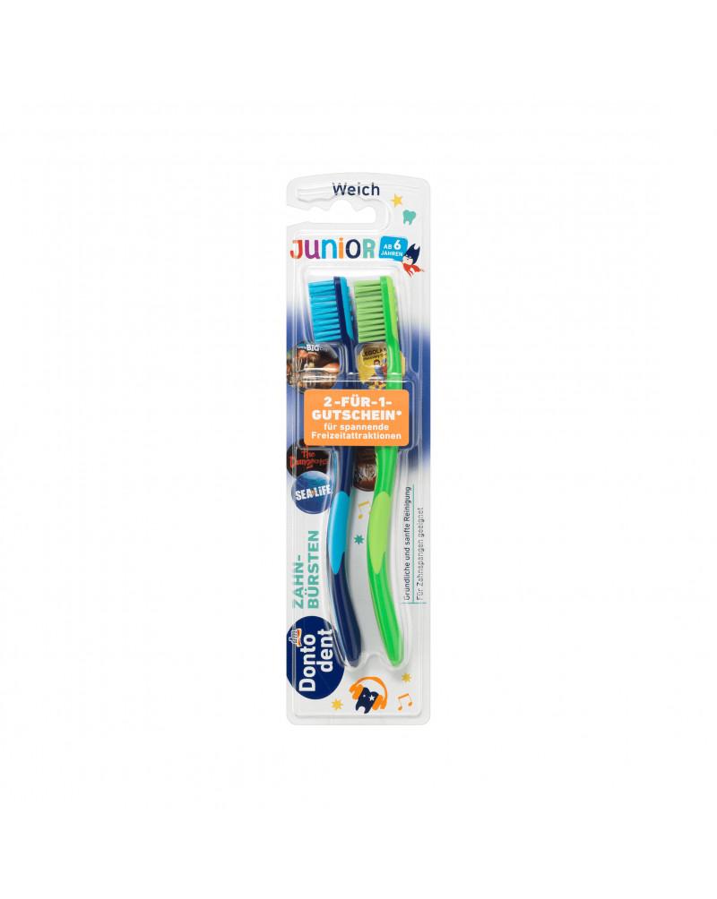 Zahnbürste Junior weich Зубная щетка для детей с 6 лет, мягкая, 2 шт.