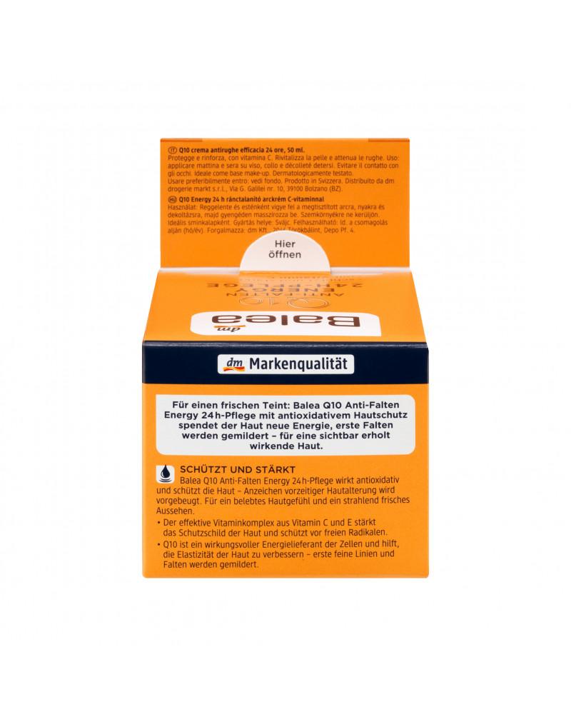 Tagescreme Q10 Anti-Falten Energy 24h Pflege Крем для лица увлажняющий с витамином С и E против первых морщин, 50 мл
