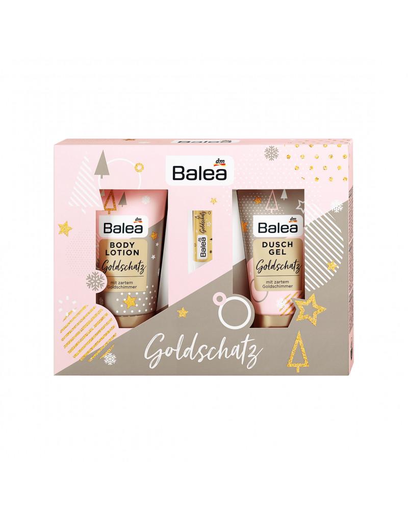 Geschenkset Gold schatz Подарочный набор для тела и лица с цветочным ароматом.