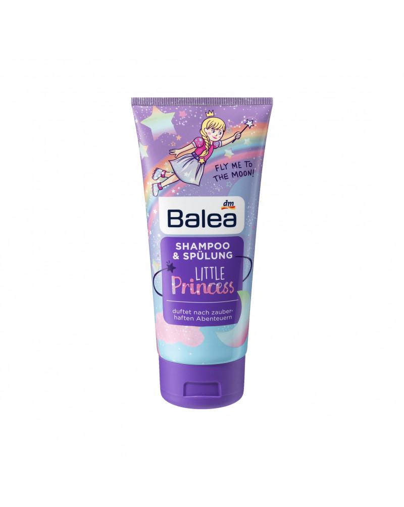 Kids Shampoo & Spülung Little Princess Шампунь и бальзам 2в1 с фруктовым ароматом, для девочек, 200 мл