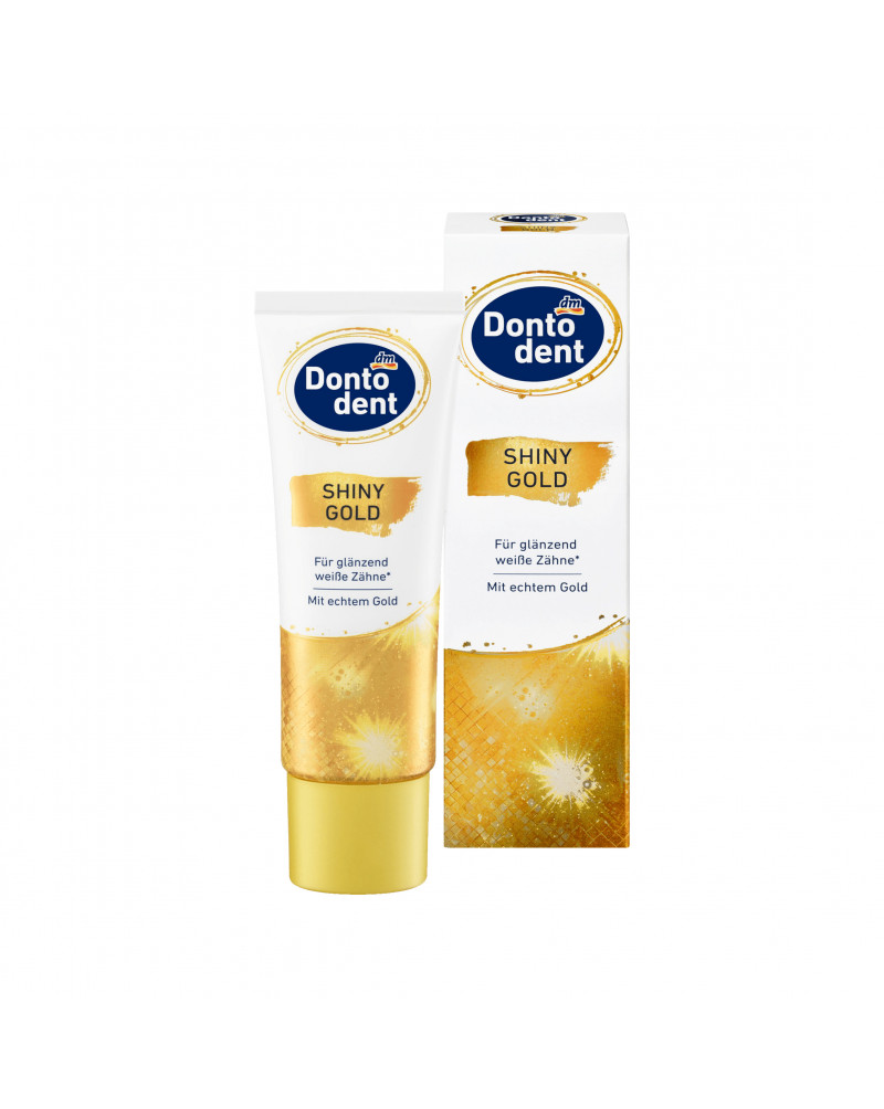 Zahnpasta Shiny Gold Зубная паста экстра отбеливающая, со вкусом мяты, 75 мл