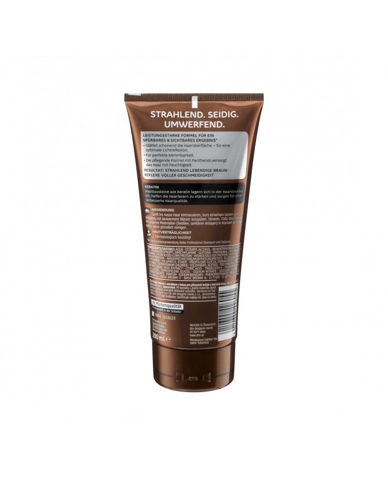 Spülung Glossy Braun Кондиционер с экстрактом семян какао и кератином для темных и непослушных волос, 200 мл