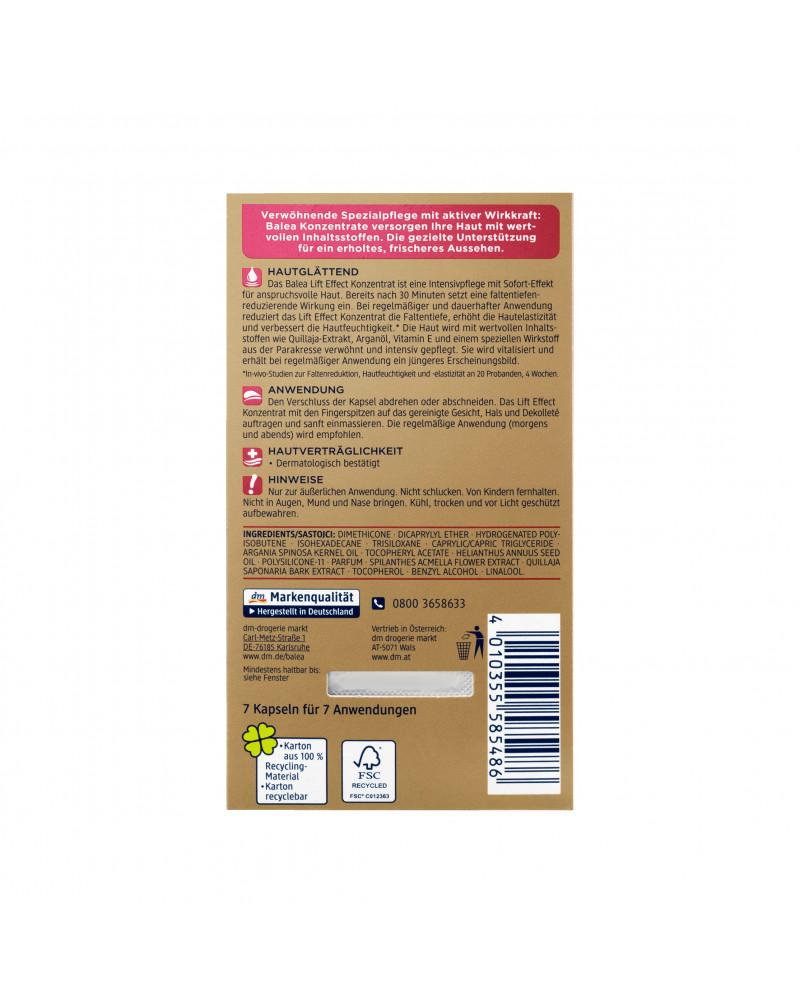 Konzentrat Lift Effect Сыворотка-концентрат для лица с экстрактом акмеллы, маслом арганы,маслом семян подсолнечника, 7 шт.