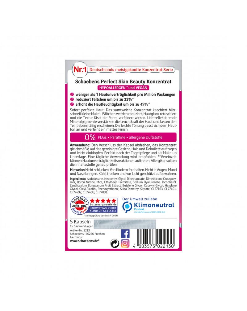 Konzentrat Perfect Skin Концентрат для лица тонирующий с гиалуроновой кислотой, с маслом сычуаньского перца и витамином Е, 5 шт.