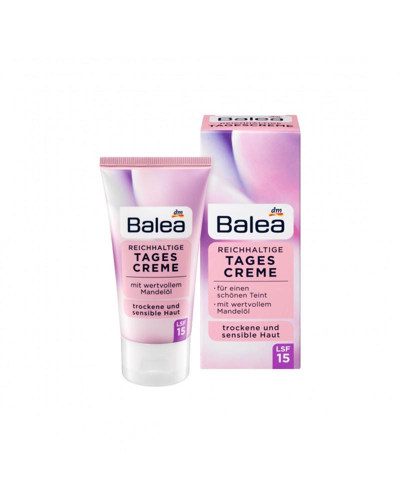 Reichhaltige Tagescreme LSF15 Дневной крем для сухой и чувствительной кожи с маслом миндаля и провитамином В5, 50 мл