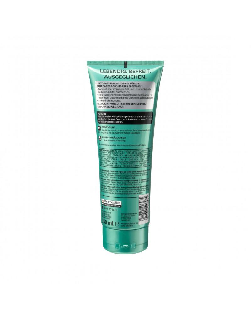 Shampoo Tonerde Шампунь с кератином и белой глиной для жирных волос, 250 мл