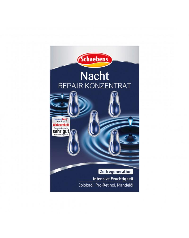 Konzentrat Nacht Ночной концентрат для лица с маслом жожоба и маслом миндаля, 5 шт