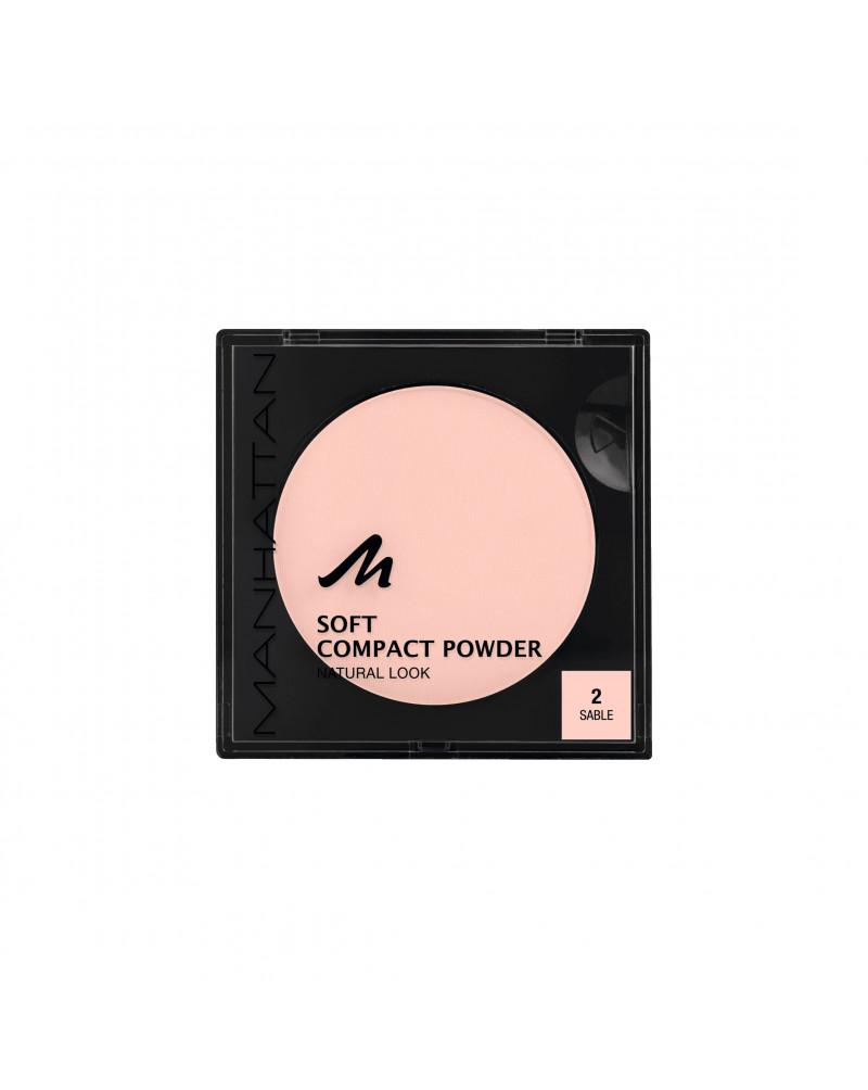 Gesichtspuder Soft Compact Powder Sable 02 Мягкая матирующая компактная пудра для лица (Sable 02), 9 г