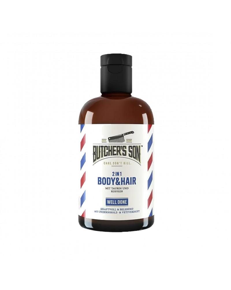 2in1 Body & Hair Well Done Гель для душа и шампунь 2В1, с таурином, кофеином и ароматом кедрового дерева и ветивера, 420 мл