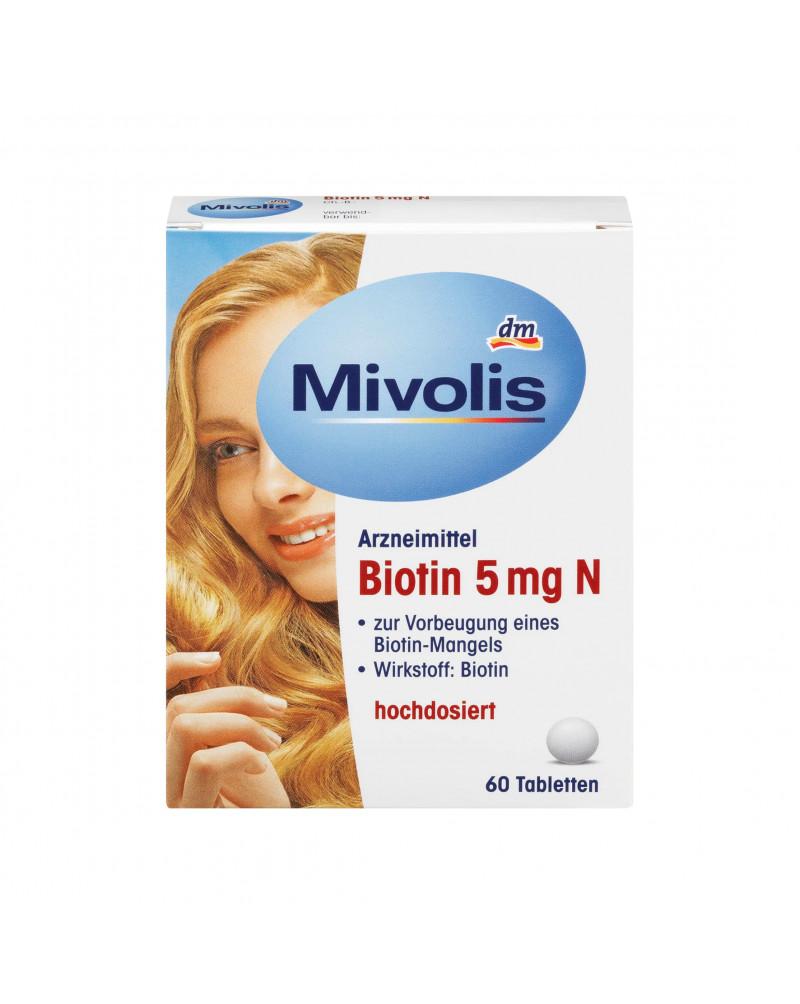 Biotin Биотин, 5 мгр, Таблетки, 60 Шт.