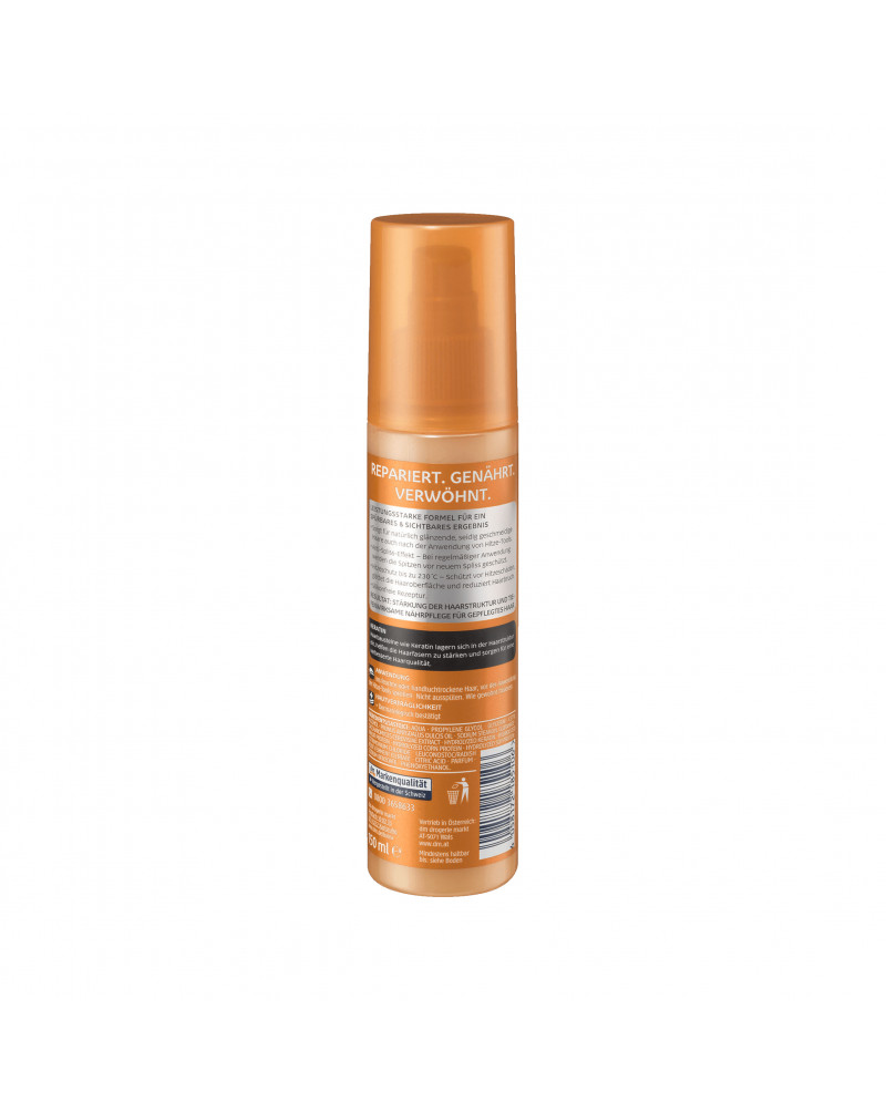 Hitzeschutz- und Pflegespray Термозащитный спрей для волос с маслом сладкого миндаля и кератином, 150 мл