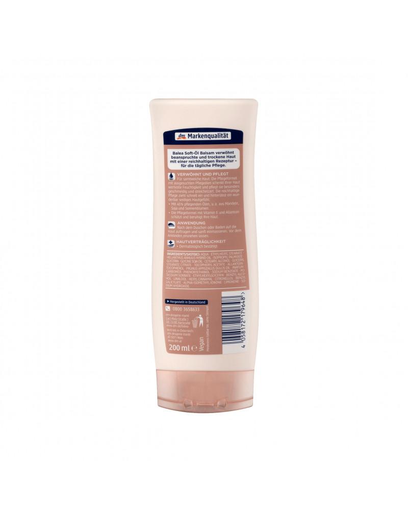 Soft-Öl-Balsam Бальзам для тела с маслом миндаля, подсохнуха, сои и витамином Е, для сухой кожи, 200 мл
