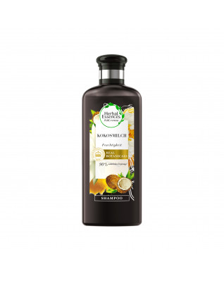 Shampoo Feuchtigkeit Kokosmilch Шампунь увлажняющий с кокосовым молоком, защита от выпадения и ломкости волос,с ароматом белых цветов, кокоса и ванили, 200 мл