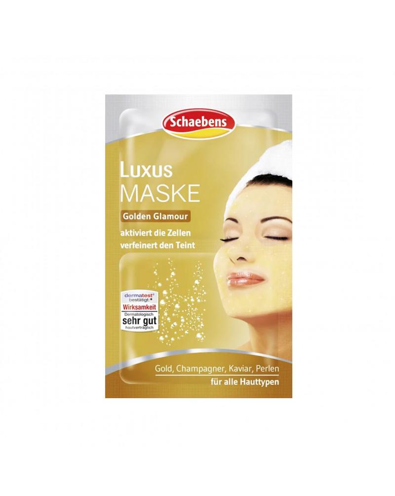 Luxus Maske Маска для лица с экстрактом шампанского, золотом, уреа, 2x6 мл