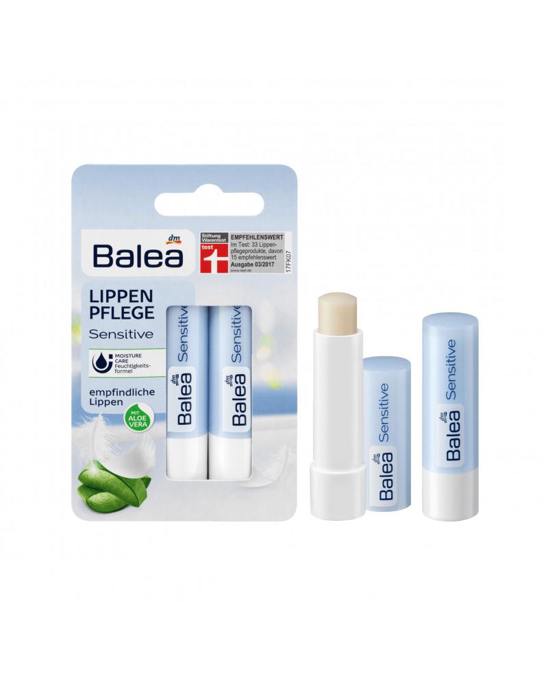 Lippenpflege Sensitive DP Бальзам для чувствительной кожи губ с алоэ вера, маслом миндаля и авокадо, 2 шт.