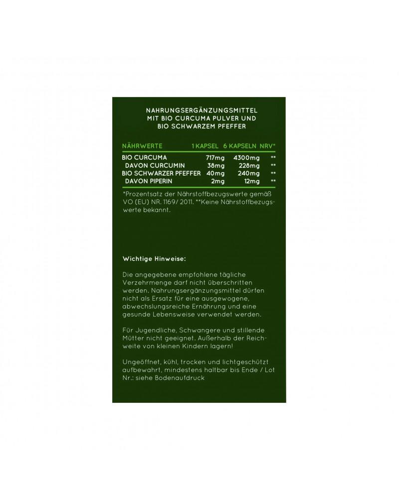 Bio Curcuma Kapseln Капсулы с органической куркумой, 240 шт.