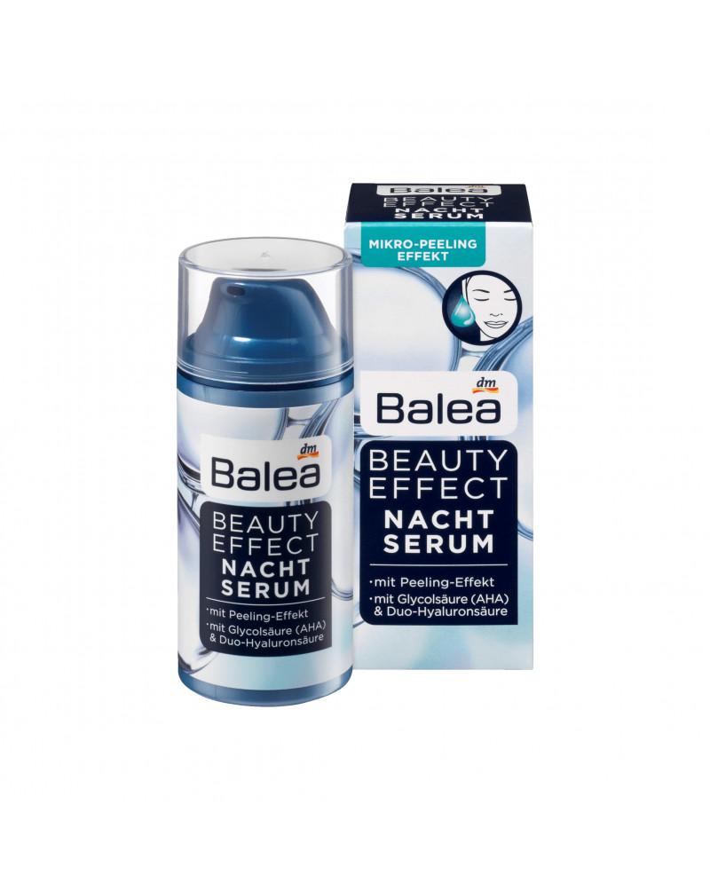 Nachtserum Beauty Effect Сыворотка-пилинг  ночная для лица с гиалуроновой, гликолевой, яблочной кислотой, 30 мл