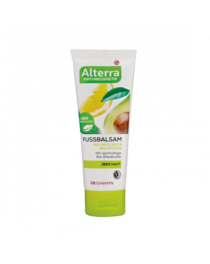 Fussbalsam Bio-Avocado & Bio-Zitrone Бальзам для ног с натуральными авокадо и лимоном, 75 мл